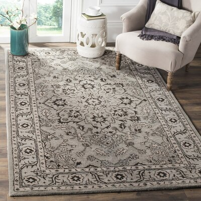 Evans Hand-Tufted Gray/Beige Area Rug COLOR: Grey / Beige, Rug Size: 6 x 9