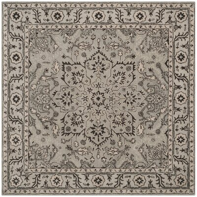 Evans Hand-Tufted Gray/Beige Area Rug COLOR: Grey / Beige, Rug Size: Square 6