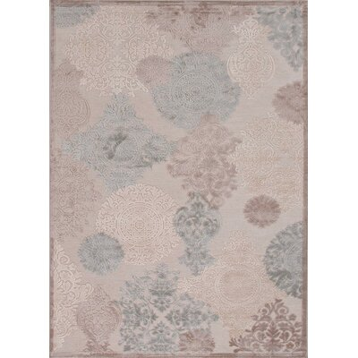 Calixta Ivory & Cream Area Rug Rug Size: Rectangle 76 x 96