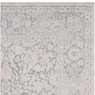 Pellot Light Gray/Cream Area Rug Rug Size: 8 x 10