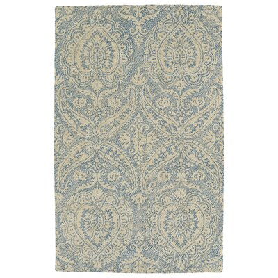 Crown Point Hand-Tufted Glacier Blue/Linen Indoor/Outdoor Area Rug Rug Size: Rectangle 9 x 12