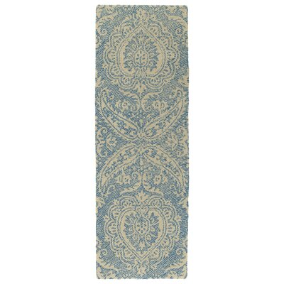 Crown Point Hand-Tufted Glacier Blue/Linen Indoor/Outdoor Area Rug Rug Size: Runner 2 x 6