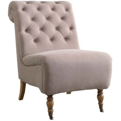 Legault Roll Back Tufted Slipper Chair