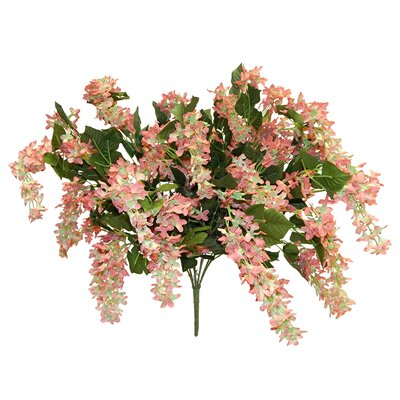 Streaming Blossom Bush Lilac Centerpiece Flower Color: Pink Green