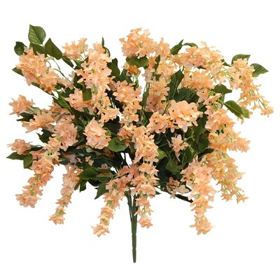 Streaming Blossom Bush Lilac Centerpiece Flower Color: Peach