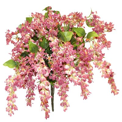 Trailing Bush Wisteria Centerpiece Flower Color: Mauve