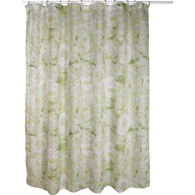 Alouette Polyester Shower Curtain Color: Sage