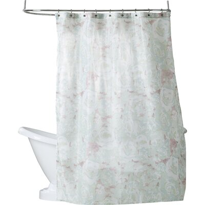 Alouette Polyester Shower Curtain Color: Fuchsia