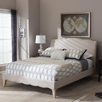 Sevan Upholstered Platform Bed Upholstery: Beige, Size: Full