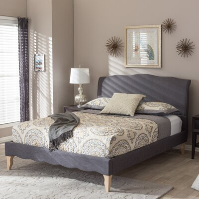 Sevan Upholstered Platform Bed Size: Queen, Color: Dark Grey