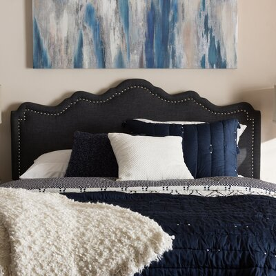 Upholstered Panel Headboard Size: Full, Upholstery: Dark Gray