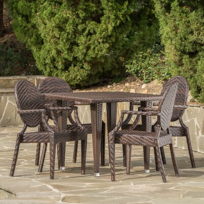 Jazzerus Outdoor 5 Piece Dining Set