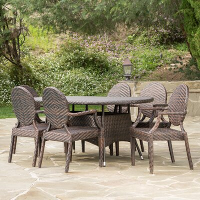 Jefferson Outdoor 7 Piece Dining Set