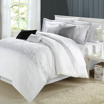Ilanb 8 Piece Comforter Set Size: King