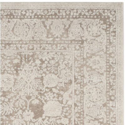 Pellot Beige/Cream Area Rug Rug Size: Rectangle 3 x 5