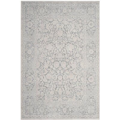 Pellot Light Gray/Cream Area Rug Rug Size: Rectangle 4 x 6
