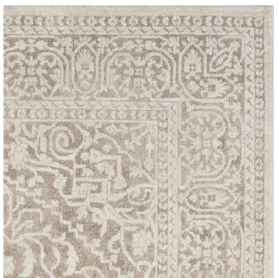 Pellot Beige/Cream Area Rug Rug Size: Rectangle 51 x 76