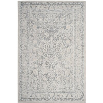 Pellot Light Gray/Cream Area Rug Rug Size: 6 x 9