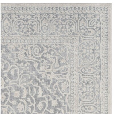 Pellot Light Gray/Cream Area Rug Rug Size: Runner 23 x 8