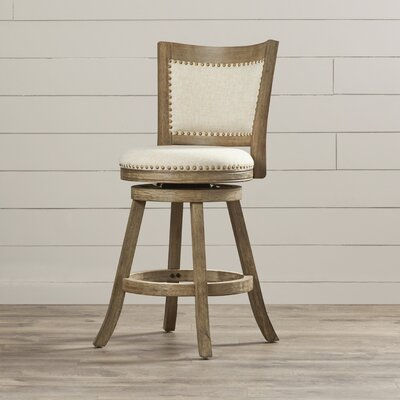 Outten 24 Swivel Bar Stool Finish: Driftwood Grey-wash