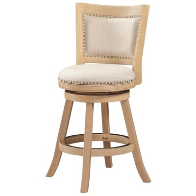 Outten 24 Swivel Bar Stool Finish: Ivory Cream