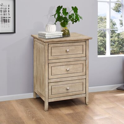 Ovellette 3 Drawer Nightstand Finish: Driftwood