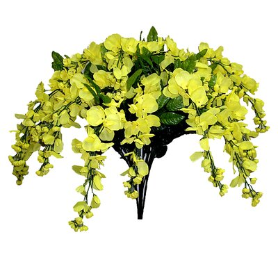 15 Stems Wisterria Long Hanging Flower Bush Color: Yellow