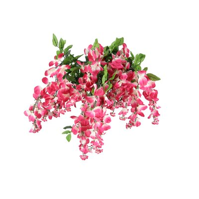 15 Stems Wisterria Long Hanging Flower Bush Color: Magenta