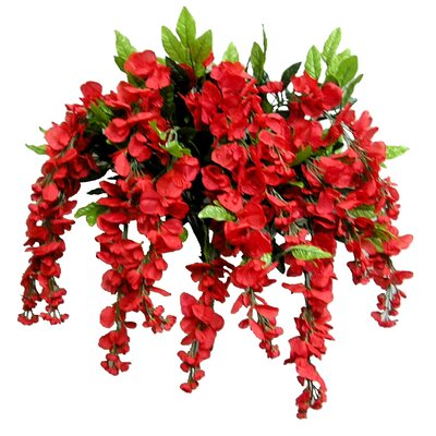 15 Stems Wisterria Long Hanging Flower Bush Color: Red