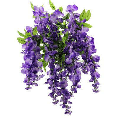15 Stems Wisterria Long Hanging Flower Bush Color: Lavender