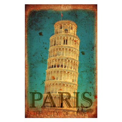 'Paris City of Love' Graphic Art on Metal