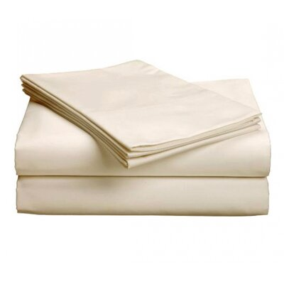 Aguirre 300 Thread Count Deep Pocket Sheet Set Size: Split King, Color: Natural