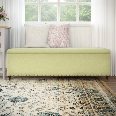 Fabric Storage Bedroom Bench Color: Lime