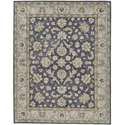 Barrview Hand-Tufted Charcoal Area Rug Rug Size: Round 8