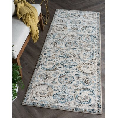 Clementine Transitional Cream Area Rug Rug Size: Runner 27 x 73