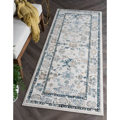 Clementine Traditional Cream Area Rug Rug Size: Runner 27 x 73