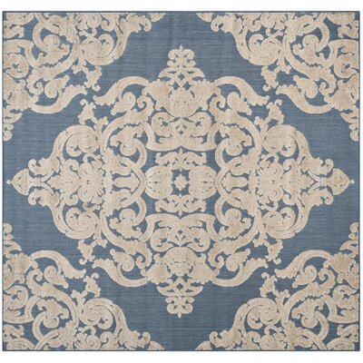 Lievin Blue Indoor/Outdoor Area Rug Rug Size: Square 67 x 67