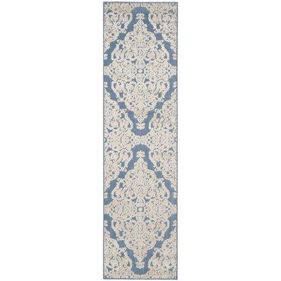 Lievin Blue Indoor/Outdoor Area Rug Rug Size: Runner 23 x 8