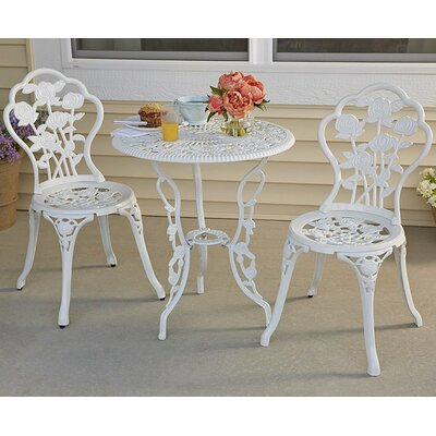 Pabon Rose Garden 3 Piece Bistro Set