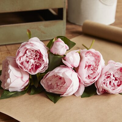 Silk Peony Bundle Color: Light Pink