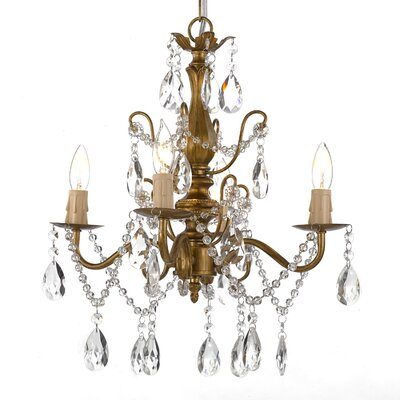 Padillo 4-Light Crystal Chandelier Finish: Gold