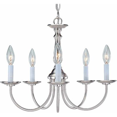 Padula 5-Light Candle-Style Chandelier Finish: Brushed Nickel