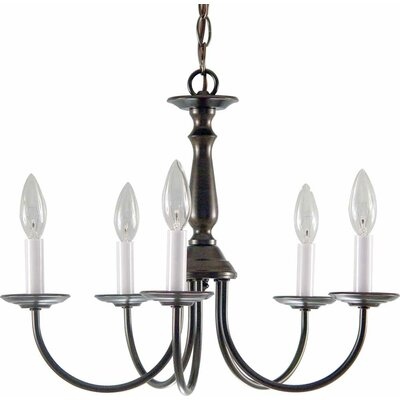 Padula 5-Light Candle-Style Chandelier Finish: Antique Bronze
