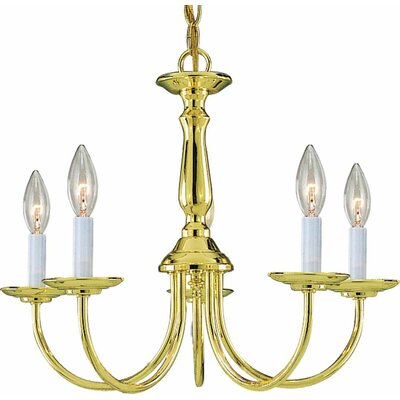 Padula 5-Light Candle-Style Chandelier Finish: Polished Brass