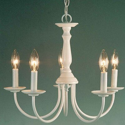 Padula 5-Light Candle-Style Chandelier Finish: White