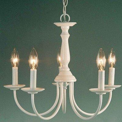 Padula 5-Light Candle-Style Chandelier Finish: White