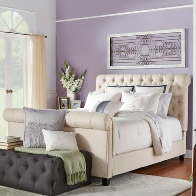 Melyna Upholstered Sleigh Bed Size: King