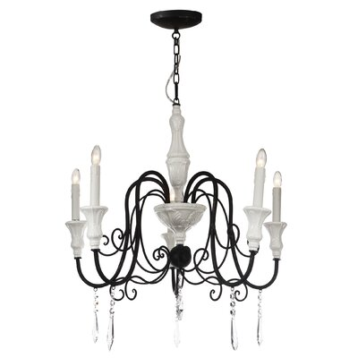 Amel 5-Light Candle-Style Chandelier