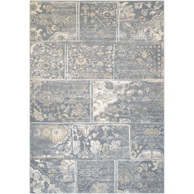 Nicolas Gray/Cream Area Rug Rug Size: Rectangle 37 x 53