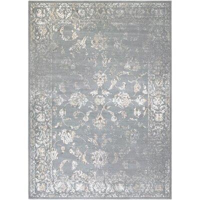 Nicolas Gray/Cream Area Rug Rug Size: 710 x 112